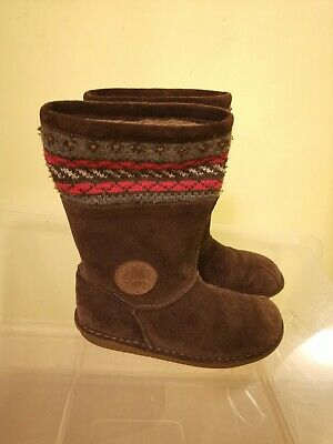 Clarks Girls Suede Boots Size UK 1F
