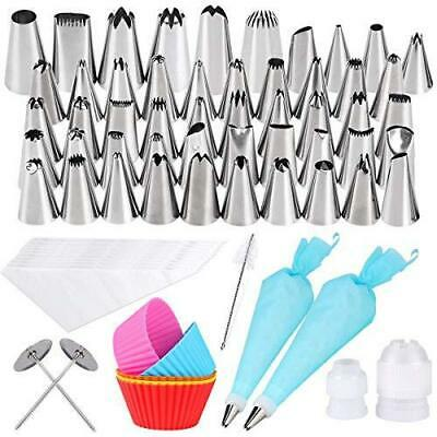 Gyvazla 72 Pcs Cake piping Set, Including 50, 10 Disposable Icing Reusable...