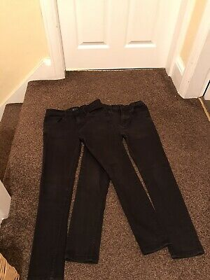 2 Pairs Of Next Black Jeans Super Skinny Fit Age 13 Years With Adjustable Waist