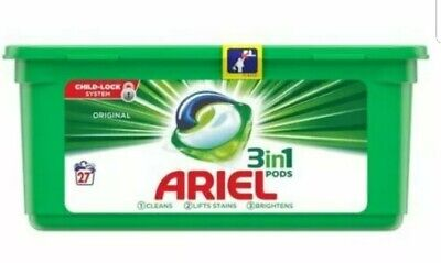 Ariel 3-in-1 Washing Pods Original Laundry Detergent Liquid Capsules - 27 Washes