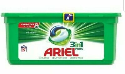Ariel 3-in-1 Washing Pods Original Laundry Detergent Liquid Capsules - 27 pack 2
