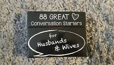 88 Great Couples Game Conversation Starters for Husbands & Wifes Card Game NIB