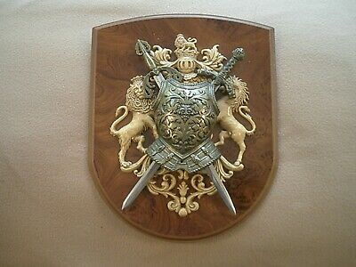 Medieval Knight Armour & Swords and Coat of Arms wall decoration
