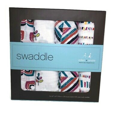 Aden Anais Red Classic Muslin Swaddle 4-pack Muslin 47x47 Baby Stars Stripes