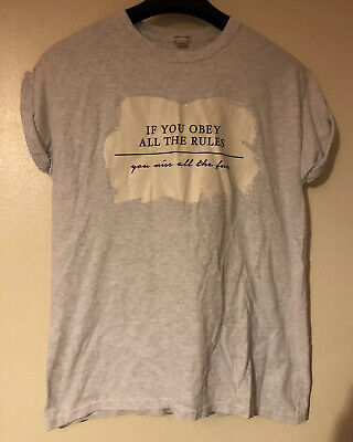 River Island Grey Girls T-Shirt Top Size 11-12 Years