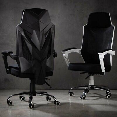Mesh Chair Racing Gaming Office High Back Ergonomic Recliner Seat With Footrest