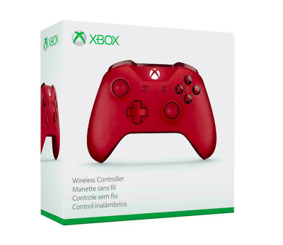 Microsoft Xbox One/ One S Wireless Bluetooth Controller 3.5mm Headset Jack Red