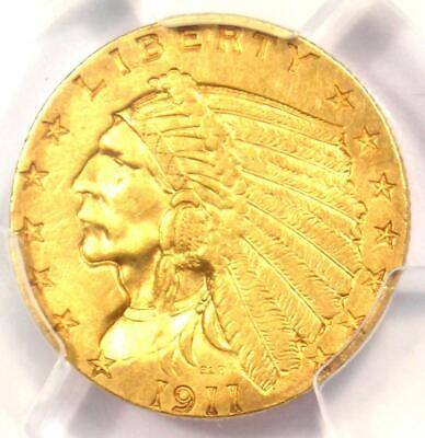 1911 Indian Gold Quarter Eagle $2.50 Coin - PCGS Uncirculated Details (UNC MS)!