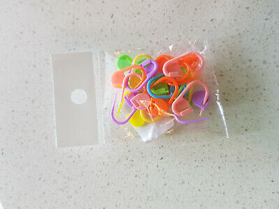 20pcs Accessories Mixed Color Knitting Crochet Stitch Marker - AU STOCK