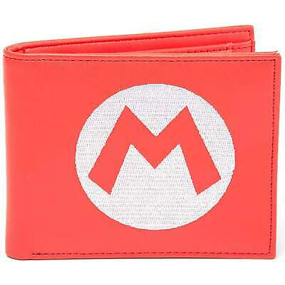 Nintendo Wallet Super Mario embroided Logo Official Red Bifold One Size