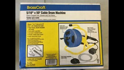 Brass Craft BC260 50 ft. Plumbing Snake Auger Cable Drum Machine Drain Opener