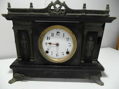 Antique Sessions Mantle Clock 1870's Brass fittings parts or repair Made in USA