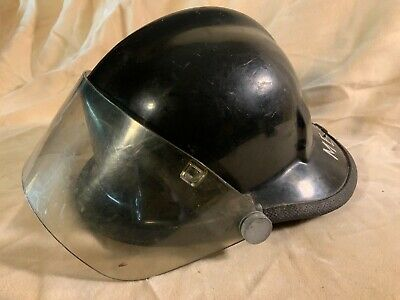 Vintage Cairns & Bro Model 770 Fire Helmet With Face Shield