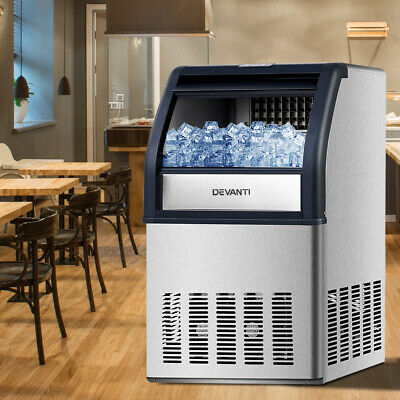 Commercial 10KG Ice Maker Stainless Steel Rapid 40-60kg Ice-cube Machine Party