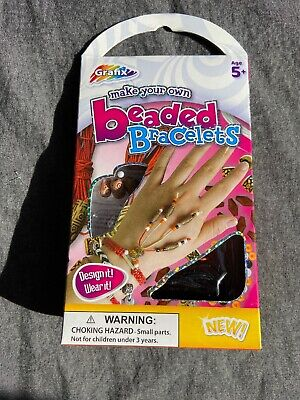 Make Your Own Bead Bracelet Kit Kids Children's Gift Brand New Friendship Age 5+