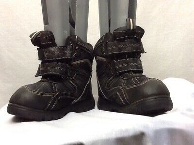 The Childrens Place Winter Snow Ankle Boots Black Kids Boys Size 12          SE8