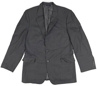 Brooks Brothers Suit Jacket 43R Mens 2 Btn Wool Blazer Gray Pinstripe Vented Sz