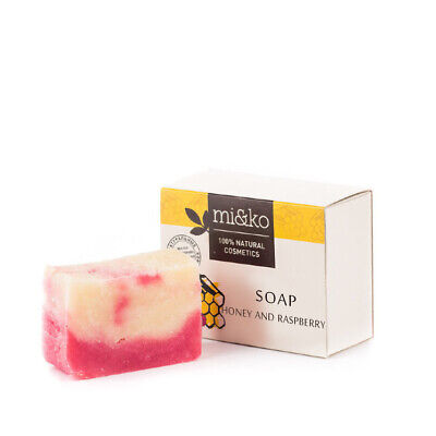 "Soap ""Honey and Raspberry"", 75 g, 100% natural composition"