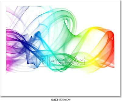 Colorful Rainbow Smoke Art/Canvas Print. Poster, Wall Art, Home Decor