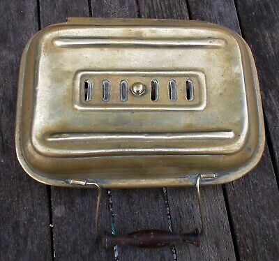 Antique brass Foot Warmer/ hand warmer. French;for car/carriage/church