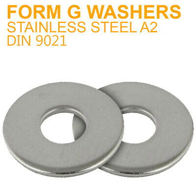 18mm A2 STAINLESS STEEL FORM G FLAT WASHERS FITS BOLTS AND SCREWS DIN 9021 M18
