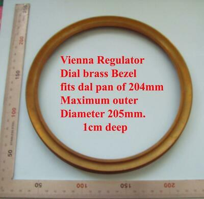 Replacement Spun brass Vienna regulator clock dial outer bezel / rim 211mm OD