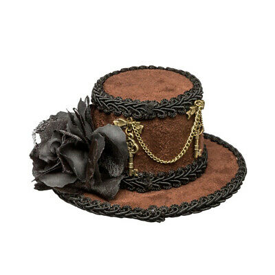 Steampunk Mini Hat Victorian Mini Cylinder Lady Miniature Cylinder Fascinator