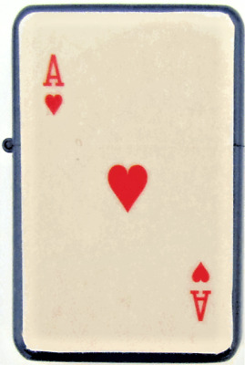 Personalised Engraved ACE OF HEARTS Star Refillable Petrol Lighter Gift S53