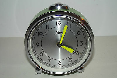 Antique Clock Vintage 1970 Star Clock Mechanical Deco Design Loft / Clock