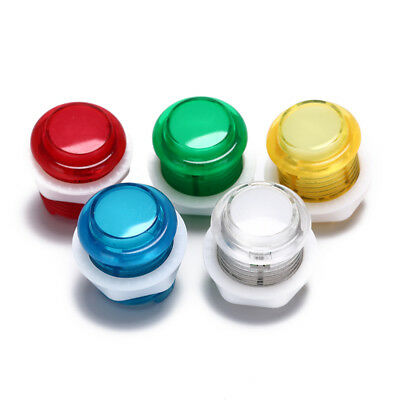 1x 24mm led illuminated 5v push buttons built-in switch for arcade joystick ODUR