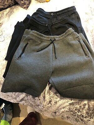 3 Pairs Of Next Boy Joggers Bottoms 2 Age 12 / 1 Age 13