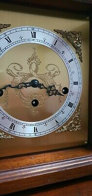 Franz Hermle 8 Day Mechanical Wind Westminster Chime Bracket Mantle Clock
