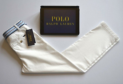 Ralph Lauren Polo Kids chino jeans & belt bundle white skinny fit Boys W24 L24