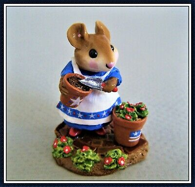 Wee Forest Folk Patient Lucy M-237 (flag on pot) - Limited and Retired