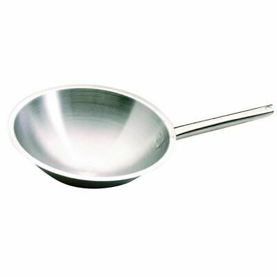 Bourgeat Tradition Plus Wok Pan with Non Drip Edge and Ultra Thick Bumper - 5L