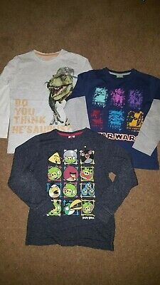 boYS BUNDLE OF LONG SLEEVE T-SHIRTS, 8 YEARS, ALL IN VERY GOOD USED CONDITION