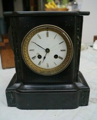 JAPY FRERES French slate clock with strike.. Parts / restore