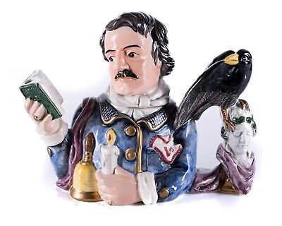 Fitz and Floyd Edgar Allen Poe Limited Edition Teapot 1995
