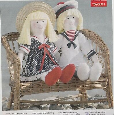 """Rag Doll Sewing Pattern /""""Molly Mop Top/"""" and her little dog Pippin"""