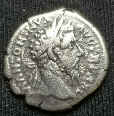 Ancient Roman Empire Antoninus Pius Quality Silver Denarius Coin 86-161 Ad