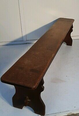 Large Antique Rustic Worn Oak  Bench