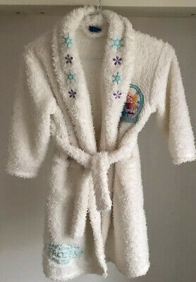 Disney Frozen Cream Fluffy Dressing Gown For Girl Age 4-5