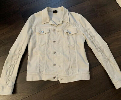 Dior Homme SS17 White Distressed Denim Jacket