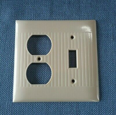 Sierra Electric Outlet Cover Switch Plate Cover Combo Ivory Ribbed Sierra Line