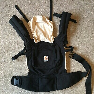ErgoBaby Original Baby Carrier plus cushioned insert: Black & caramel