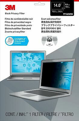 """New  3M Privacy Filter For 14"""" Widescreen Laptop 98044054256"""