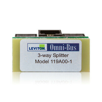 New  Leviton Omni-Bus Splitter Box 3-Way 119A00-1