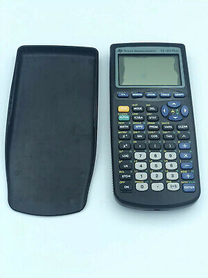 Texas Instruments TI-83 Plus Graphing Calculator With Cover Black Very Clean