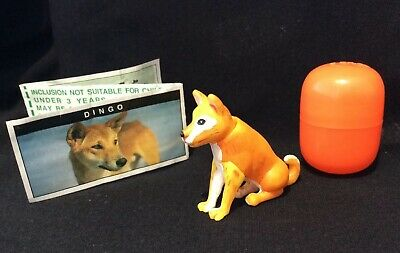 Rare Yowie ..Color Varation Orange Dingo With Non Toxic Paint Green Papers