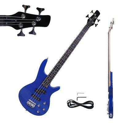 "New 34"" IB Basswood 24 Frets Electric Bass Guitar Blue"